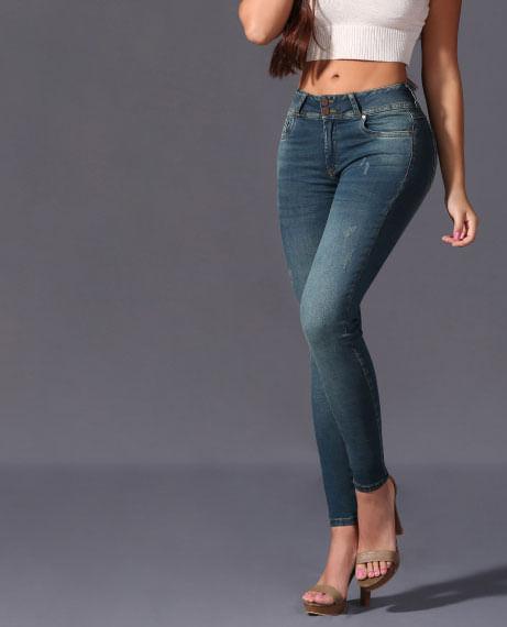 Jeans Tiro alto para mujer Kalendar